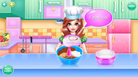 装扮游戏:小公主生日,妈妈给她做蛋糕