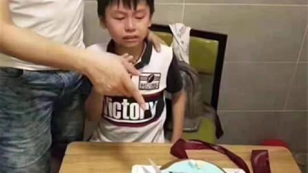 刻骨铭心的生日,5岁男孩看到蛋糕瞬间崩溃,网友:孩子承受太多