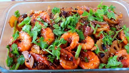 干锅虾这样做才好吃,味道麻辣鲜香,一做一大盆不够吃,真过瘾!
