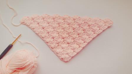 钩针编织用这个三角形花样钩织的围巾披肩超级美哦各种编织图解视频