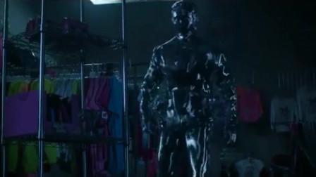 终结者:液态金属终结者T-1000伪装成警察,猎杀穿越回来的人类!