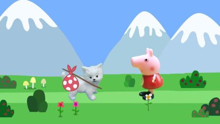 小芭比在森林寻找小猫咪,佩奇苏西来帮忙,最后成功的找回了猫咪