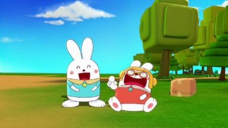 阿优之神奇萝卜:阿优把饭勺当成魔力萝卜,跳跳忍不住笑了!