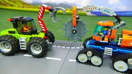 乐高机器人操控机器制作工程车汽车玩具