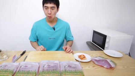 大胃王小哥吃播,美味的芝士紫薯果酱面包,喝牛奶,看上去好好吃啊