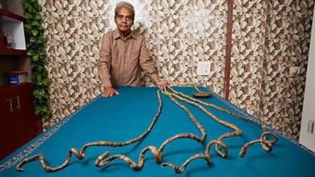 大爺留了44年長指甲捐給博物館不料指甲被剪后意外發生