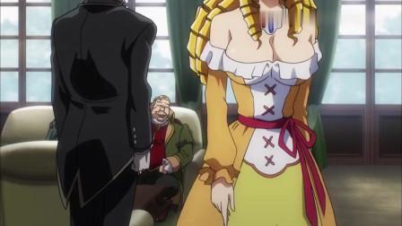 《overlord》猪一样的贵族想占索留香的便宜,后来被赛巴斯教训的很惨