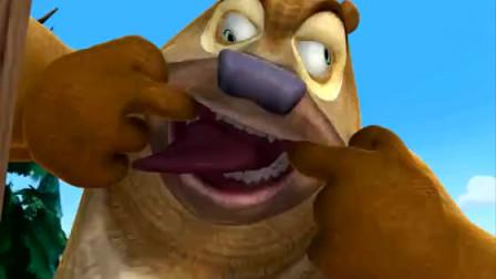 熊出没之丛林总动员:熊二对吉吉做鬼脸