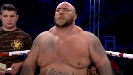 真正的重量级对决,两个几百斤的胖子拼拳,又一场精彩的KO