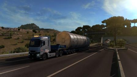 欧卡2:2019新款雷诺,意大利港口装车进行特种运输