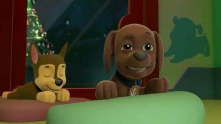 汪汪队:圣诞夜的饼干实在太香了, 引得陆玛一直闻,小馋狗!