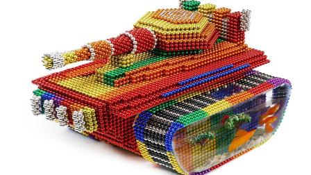 手工制作彩色坦克水族箱