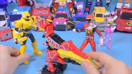 迷你特工队 开箱玩具 迷你特工队大战恐龙骑士