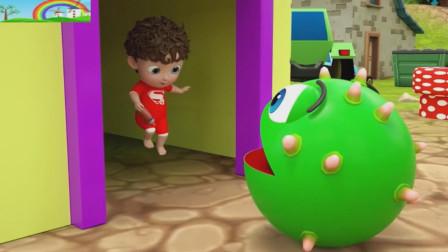 满头包的吃豆人向可爱的小娃娃求救!吃豆人游戏