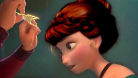 """冰雪奇缘,艾莎、安娜""""身份颠倒"""",安娜公主戴上王冠成为女王!"""