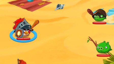 愤怒的小鸟英雄传  小红鸟打败炸弹猪 休闲闯关益智游戏