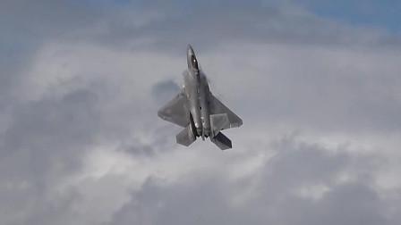 实拍F22隐身战机起飞,90度大迎角30秒升空,性能真牛