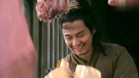 水浒传:石秀开心的做着买卖,抬头一看是潘巧云,还亲自送饭给石秀