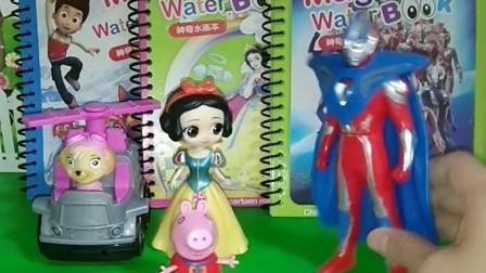 白雪公主有公主神奇清水画本,奥特曼的是奥特曼神奇水画本,小朋友你有神奇清水画本吗?