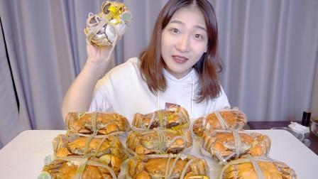 试吃600块的阳澄湖大闸蟹!挑出蟹肉蟹黄一口吃下超级爽!