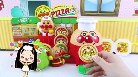 面包超人披萨店开业啦!食人花窝瓜来买披萨玩具故事