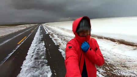 一人一车一狗,独闯,阿里大环线色林措,海拔5000,刚下暴雨,又遇暴雪,抗得住吗?