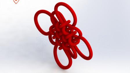 亦明图记:SolidWorks建模,中国结,用平面草图和3D草图绘制扫描路径