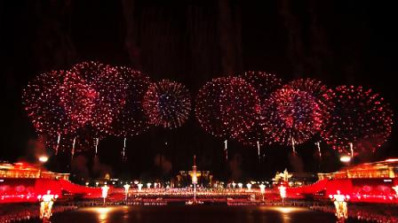 首都国庆联欢活动 开幕礼花我爱你中国