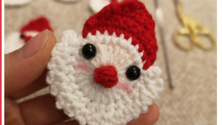 151集圣诞老人挂件钩织教程织法和图解