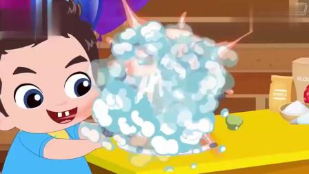 儿童卡通片小男孩给妈妈准备惊喜蛋糕