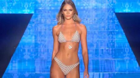 国际时尚泳装秀,这么撩人的比基尼,穿在超模身上看得人心动不已