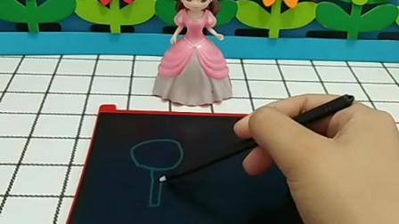育儿亲子游戏玩具:贝儿要送给白雪棒棒糖
