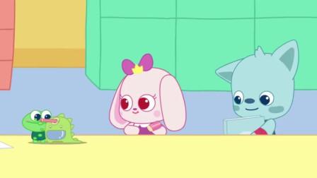 小鹿杏仁儿动画片:杏仁儿和妈妈商量想再买绘画本,妈妈只能让它买一个