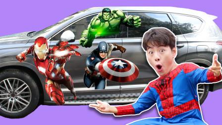 超级英雄版本贴纸游戏—帮悦儿的车换新装咯!