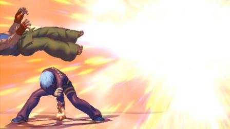拳皇13:K本身造型就很酷炫,来波穿三还顺带隐藏超杀终结就更帅了