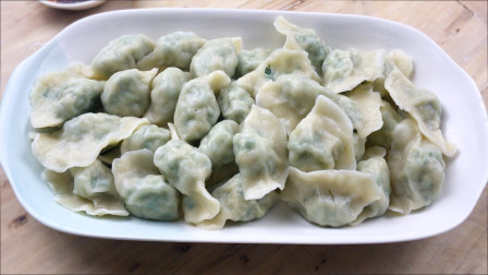 韭菜大肉饺子好吃的关键有两点,面皮和调馅,一样都不能疏忽!