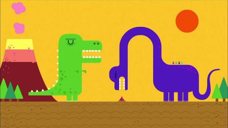 《嗨道奇第一季》猜一猜,恐龙在干嘛呢