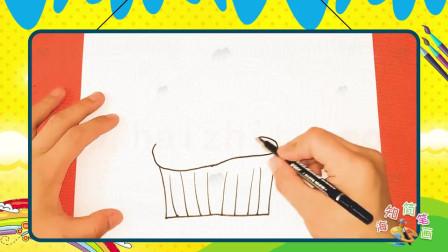 手绘食物简笔画之画纸杯蛋糕