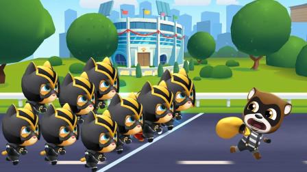 汤姆猫跑酷:这么多忍者猫 小浣熊还跑得掉吗 游戏