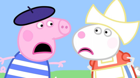 小猪佩奇和好朋友吵架 简笔画