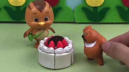 熊二帮萌鸡小队看生日蛋糕,可是生日蛋糕却不见了?是谁偷吃了呢?