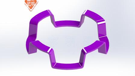 亦明图记:SolidWorks建模,弹簧片,这个薄壁零件用抽壳命令绘制很简单
