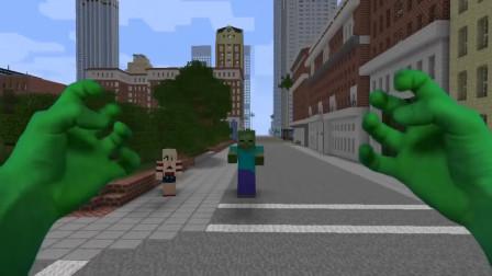 我的世界:卷毛在街上发现了小女孩被欺负,他要变成蜘蛛侠为民除害
