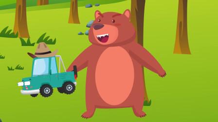 趣味益智动画片 小汽车去森林里探险