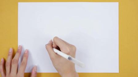 小猪佩奇简笔画:猪爸爸炸果汁幼儿简笔画图片大全