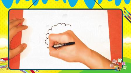 手绘食物简笔画之画卡通月饼(1)