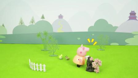 小猪佩奇简笔画:猪爸爸拎水桶简笔画图片