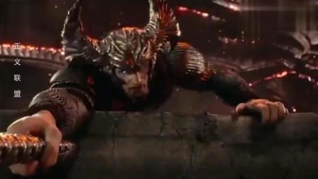 正义联盟:荒原狼嘲讽正义联盟垃圾!结果超人归来一拳把他打飞!