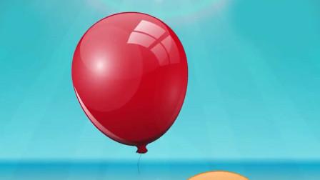 儿童启蒙卡通片,用彩色画笔画气球