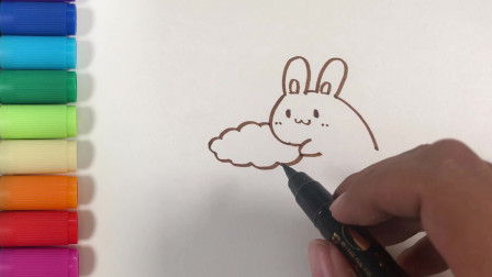 儿歌多多儿童学画画 月亮上面有什么 领着萌宝学画萌萌的月兔